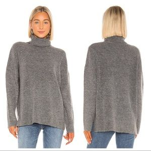 Lovers + Friends Gray Turtleneck Knit Sweater